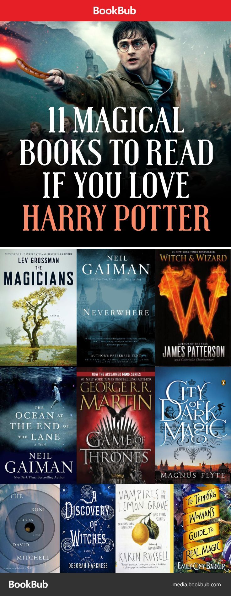 Books to Read If You Love Harry Potter. I may try 2 or 3 of these