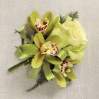 Jade Rose & Orchid Corsage £20.00