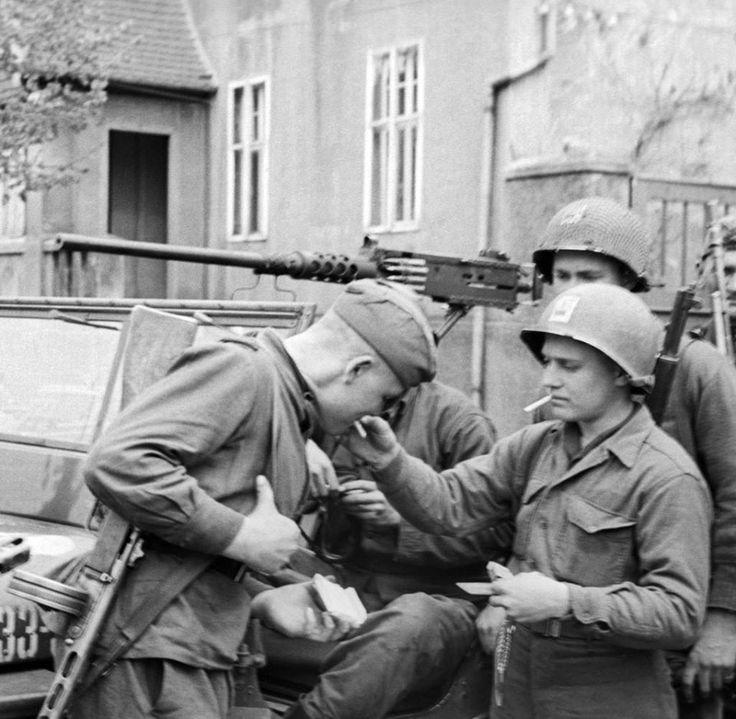 American And Russian Troops Meet Up In Berlin, 1945 In