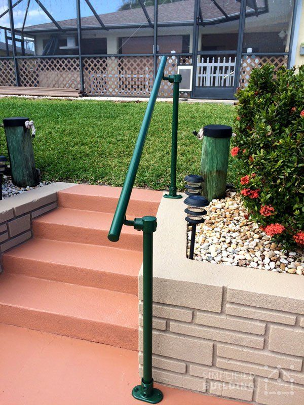 railing on pinterest metal stair railing concrete steps and deck