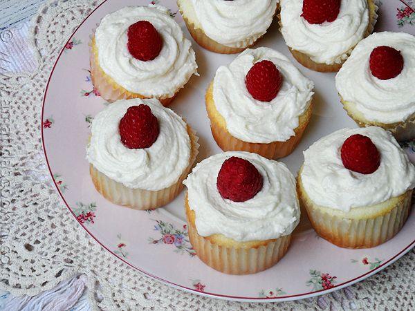 Raspberry Filled White Chocolate Buttercream Cupcakes - Amanda's Cookin'