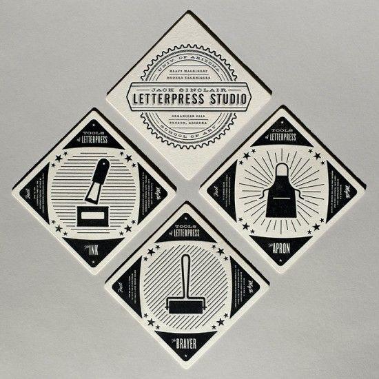 letterpress business cardsSinclair Letterpresses, Jack Sinclair, Business Cards, Letters Press, Brand Design, Graphics Design, Iron Design, Letterpress Studios, Cast Iron
