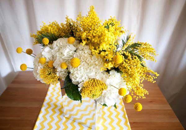 55 best blake bar mitzvah images on pinterest for Yellow flower arrangements centerpieces