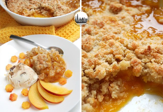 Sublime Peach Crumble! Crumble di pesche sublime!
