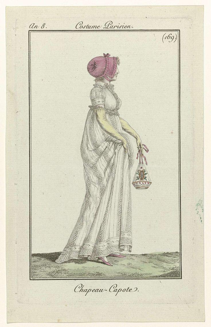 Journal des Dames et des Modes, Costume Parisien, 6 novembre 1799, An 8 (169) : Chapeau - Capote, Anonymous, Pierre de la Mésangère, 1799