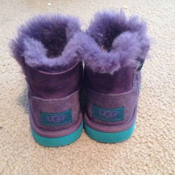SOLD IN BUNDLE!!Girls Ugg Boots 💯 Authentic Purple and Teal girls Ugg Boots. Purchased from Nordstrom barely worn, in great condition. Also have them in Pink! UGG Shoes
