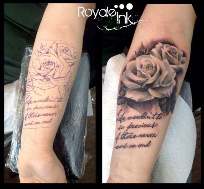 White rose tattoo Carolina Avalle