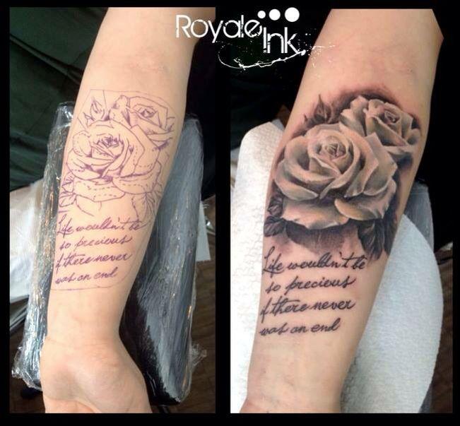 White rose tattoo Carolina Avalle