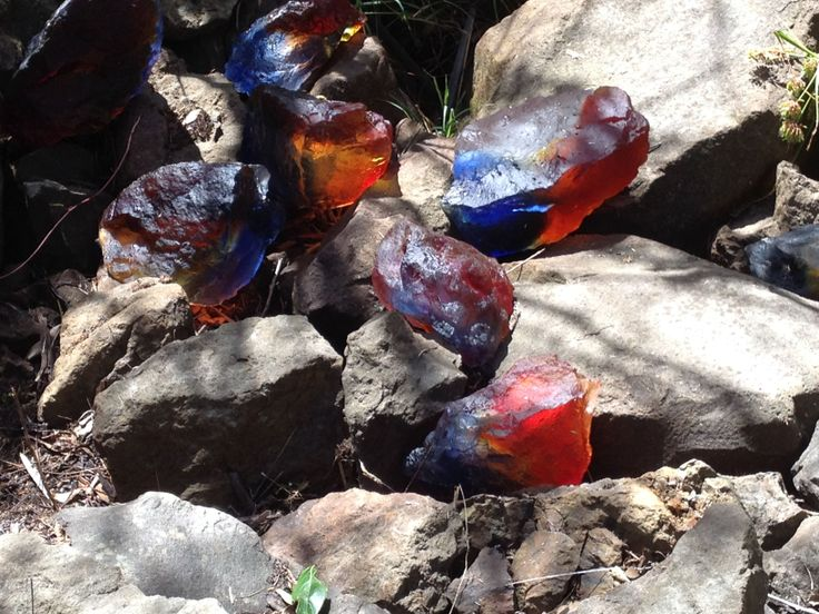 Jewels among the rocks on the Harbourview Sculpture Trail #sculpture #evoluskincare