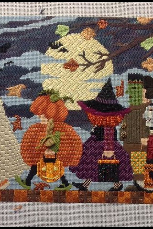 Halloween Parade Needlepoint Canvas By Ashley Dillon