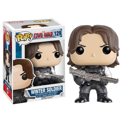 Captain America Civil War Winter Soldier Pop Vinyl Figure...there had better be Bucky keyrings too!