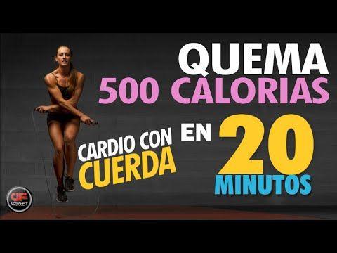 Quema 500 calorias en 20 minutos - CARDIO CON CUERDA!!! - YouTube