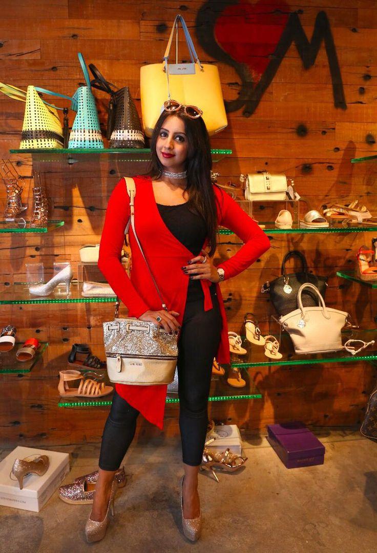 Sanjjanaa Galrani Photos From Steve Madden Store