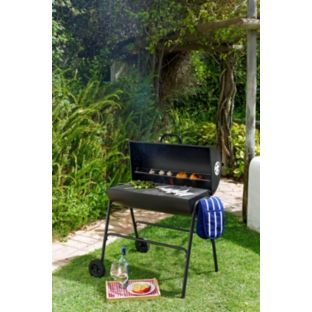 Buy Oil Drum Charcoal BBQ with Cover at Argos.co.uk - Your Online Shop for Barbecues.