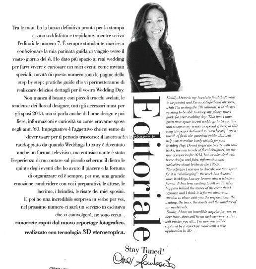 Weddings Luxury: l'editoriale di Cira Lombardo