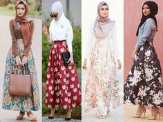 Puffy maxi hijab skirts- Stylish hijabi street styles http://www.justtrendygirls.com/stylish-hijabi-street-styles/