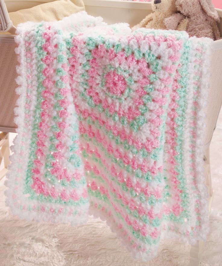 Baby's First Blanket Crochet Pattern | Red Heart