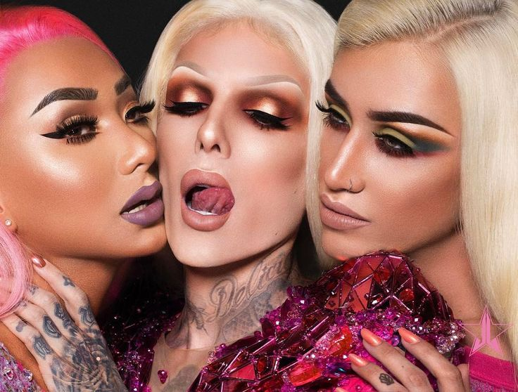 Nikita Dragun, Jeffree Star and Adore Delano for Jeffree Star Cosmetics - Adrogyny Campaign 2017