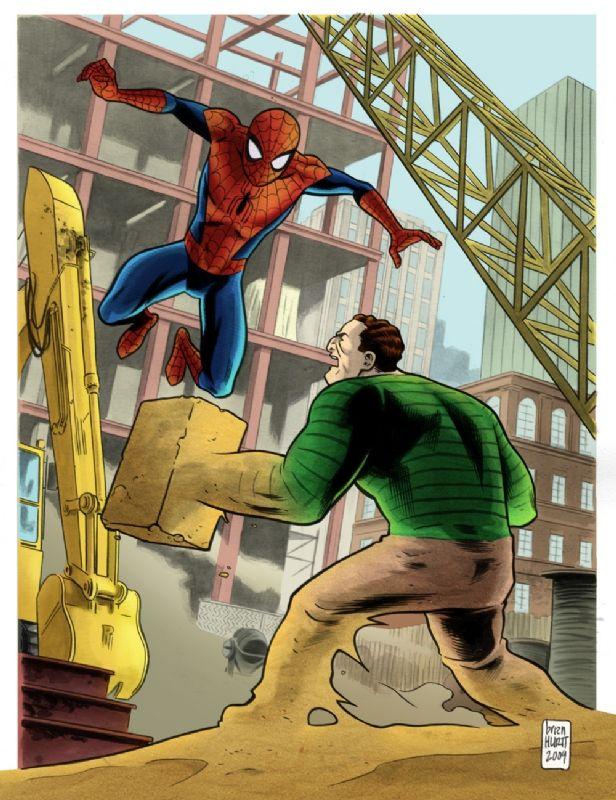 sandman spiderman comic - 616×800