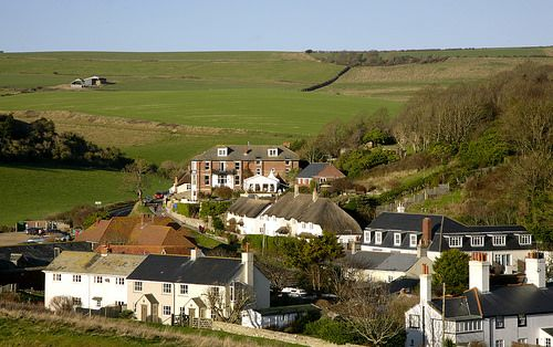 West Lulworth http://www.visit-dorset.com/things-to-do/attractions/lulworth-cove-p807263