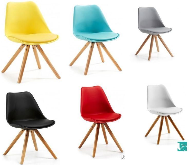 Sedia colorata in stile scandinavo, linee semplici, geometrie pulite e tratti fondamentali. Le sedie in stile scandinavo vi sbalordiranno con contesti meravigliosi, in un misto inatteso di colori e materiali.