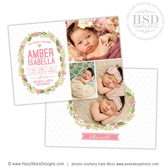71 best Birth Announcement Templates, Family Photography Templates - birth announcement template