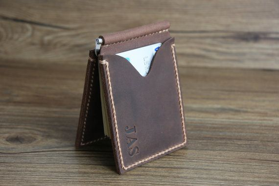 PERSONALIZED WALLETMen's Leather Money Clip by RockyLeatherDesign