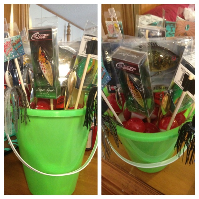 25 unique fishing gift baskets ideas on pinterest for Fishing gift basket