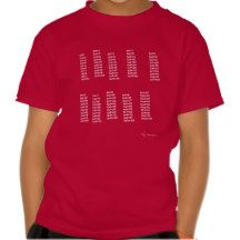 Tablas de Multiplicar Camiseta