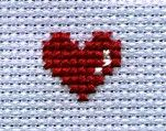 directions, for heart safety pin beading Simple Heart Photo