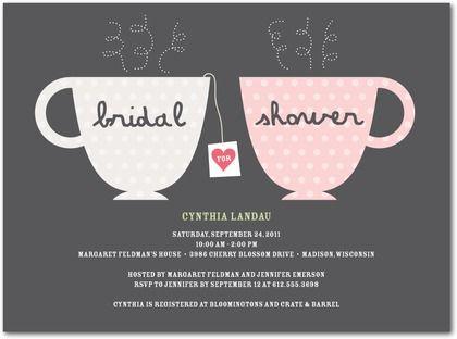 "Wedding Paper Divas ""Charming Tea Cups"" bridal shower invitations"