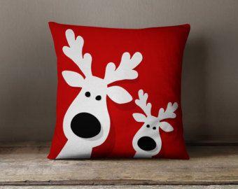 Adornos de Navidad Cojines decorativos por wfrancisdesign en Etsy