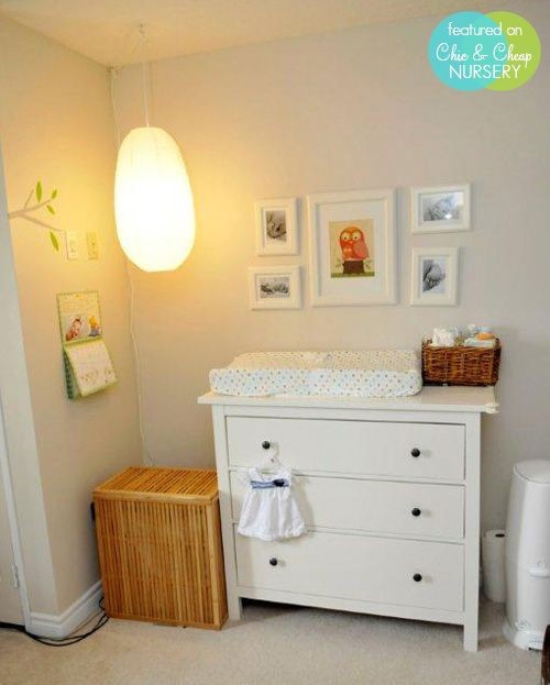 Ikea small Hemnes dresser with changing pad on top - exactly what I plan on doing!