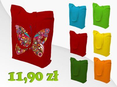 Torba bawełniana różne kolory Zakupowa na ramię !