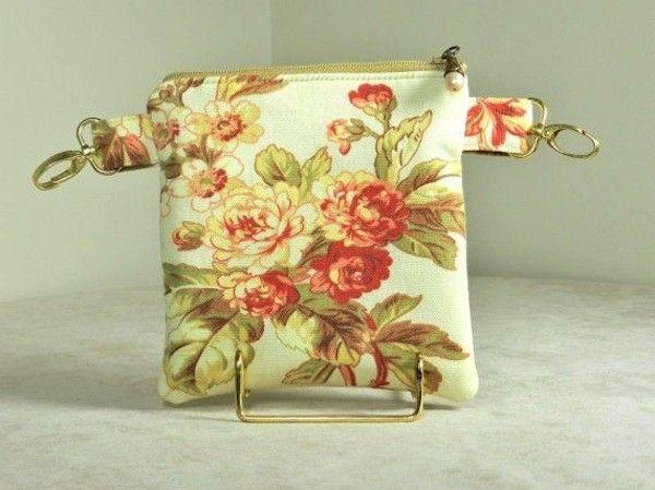 Marsupio con stampa floreale vintage