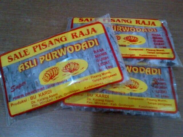 Sale pisang Raja Purwodadi