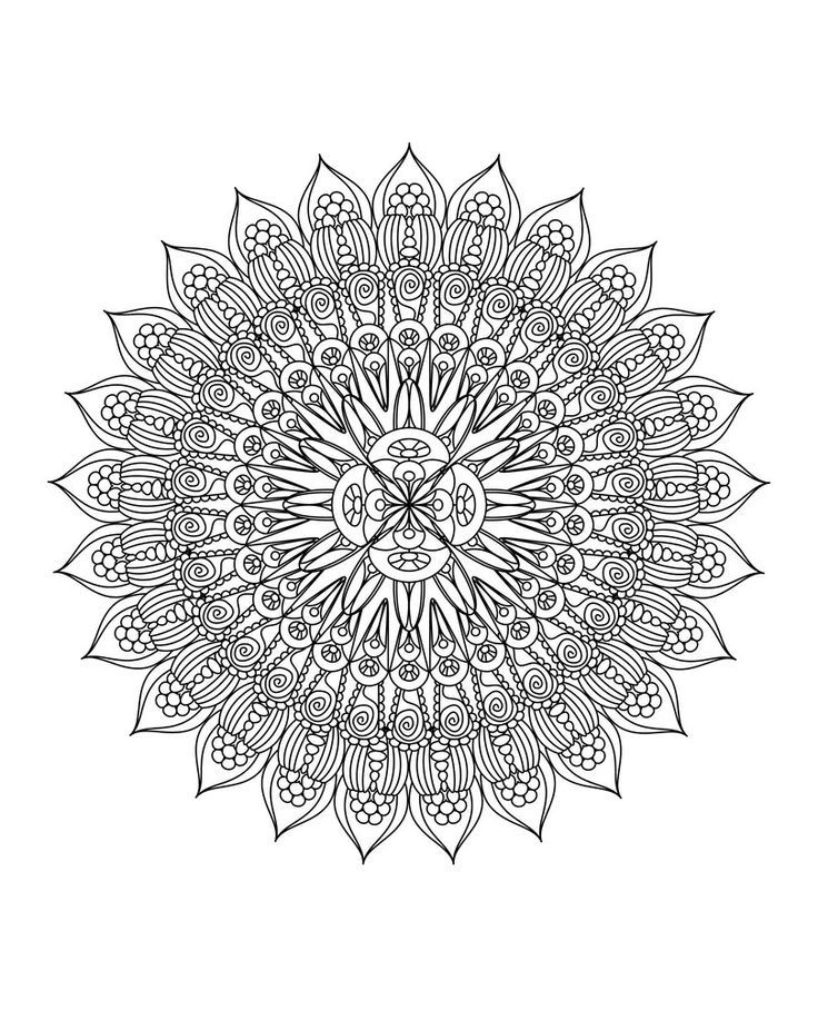 454 Best Images About Advanced Coloring Pages Mandalas On