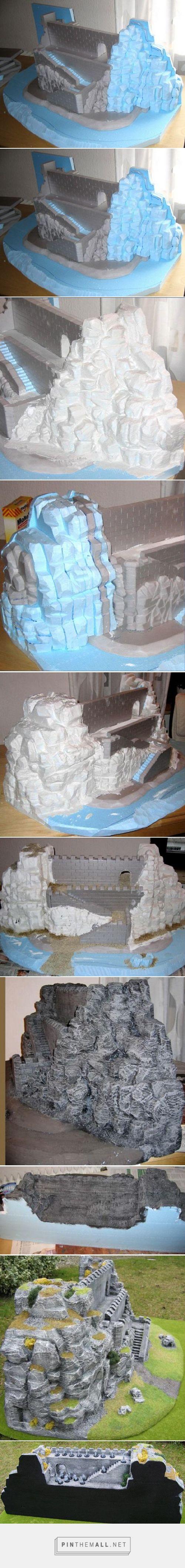 Tutorial: eine Bergfestung aus Styrodur | Gidian Gelände - created via http://pinthemall.net