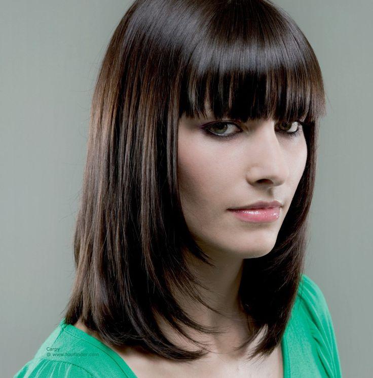 10 best Fringe-Face Framing images on Pinterest   Long hair, Layered ...