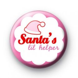 Christmas lil Helper Pink Badges Christmas xmas Button Badges