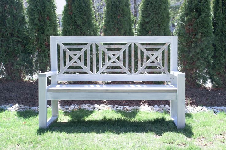 Diy outdoor modern chippendale bench plans modified from