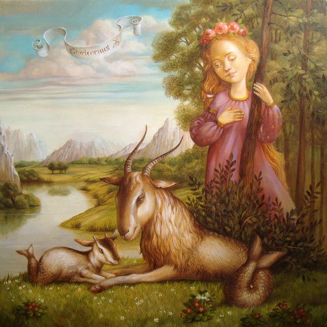 Козерог или Счастье материнства - художница Наталья Деревянко