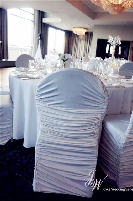 #chaircover #white #stretch #simple #wedding #decoration
