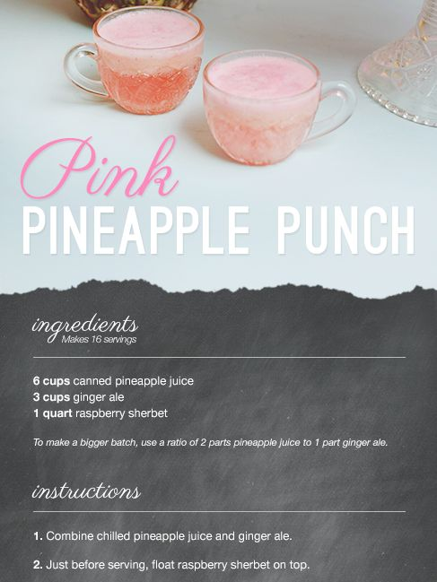 pink pineapple punch \\  from lover.ly  http://lover.ly/read/food-and-drink/bar/pink-pineapple-punch-vintage-punch-recipe-wedding-shower?