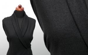 Tkanina wełna kostiumowa z lycrą jet black - Tkanina wełna z lycrą - Textilmar