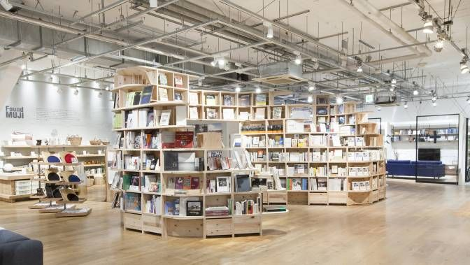 Hong Kong's first Muji Books shop opened on Monday at Olympic City in Kowloon and is only the third outlet outside Japan (Tokyo shop pictured), after Shanghai and Tainan. Unlike its Taiwanese rival Eslite and Hong Kong's PageOne, Muji takes a new strategy: more than 8,000 books in three languages (Chinese, English and Japanese) are shelved next to the shop's in-house products. It's a lifestyle-focused space where travel books are smartly complemented by Muji suitcases and short-haul…