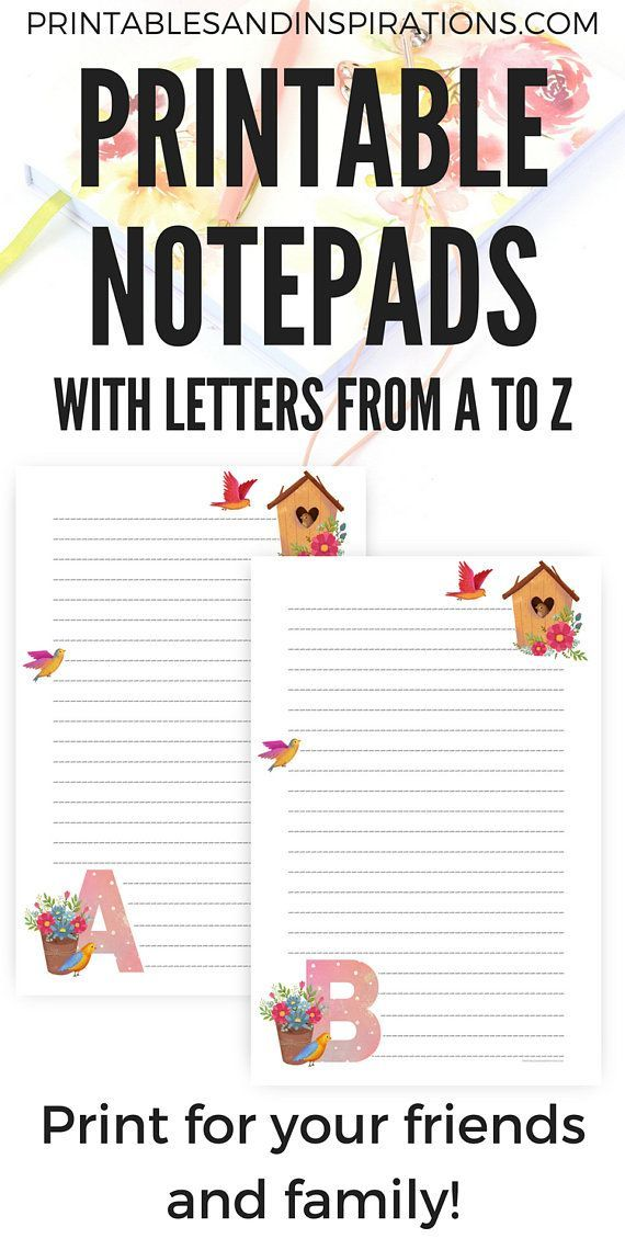 image relating to Printable Notepads named Pin upon Planners + Templates + Printable