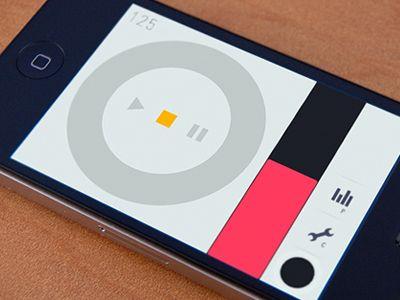 Music app UI | Designer: Aaron Moodie - aaronmoodie.com; flat, simple and clear!