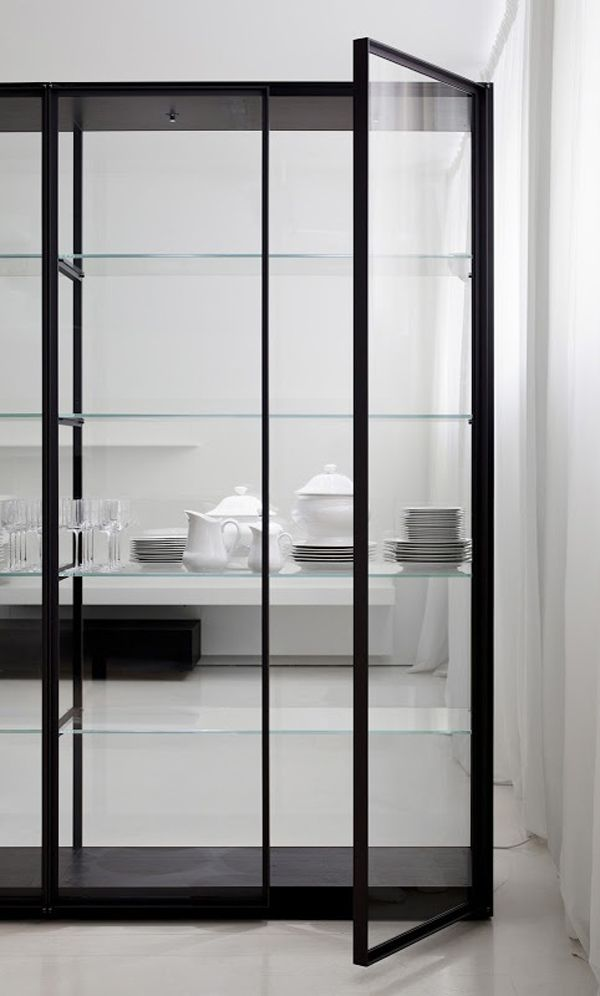The Fully Glass Encased Ex Libris Bookcase Designed By Piero Lissoni Is  Available In Unit · Glass CabinetsKitchen CabinetsGlass Display ...