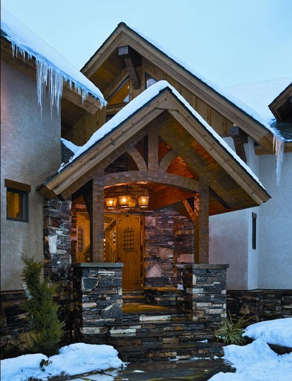 17 best entrances images on pinterest home ideas log for Entrance ways to homes